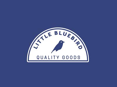 Little Bluebird simple badge bluebird birds bird cute minimal clean illustrator logo design branding vector illustration