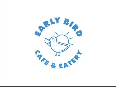 Early Bird Version 2 clean vector cute minimal simple fun bird logo cafe logo characterdesign branding logos