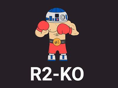 R2-KO weekly warm-up illustrator sci fi vector art boxing star wars design illustration vector
