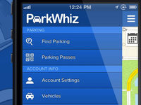 ParkWhiz iPhone App Drawer