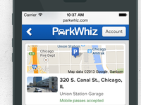 New ParkWhiz Mobile Site