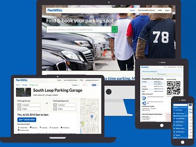 ParkWhiz Responsive Redesign redesign flat ui layout parkwhiz blue responsive