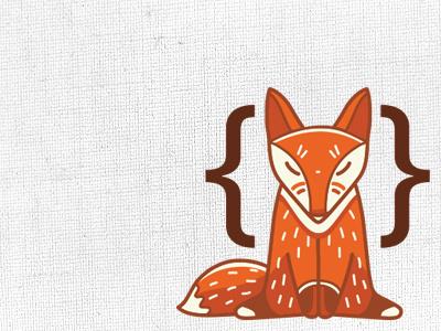 The Theme Fox - Fox fox orange brackets brown white theme fox