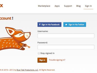 The Theme Fox - Login theme fox white brown orange themes site fox login facebook twitter social social signin