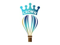 Crown hot air baloon