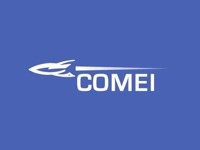 Comet branding design illustration branding blue design graphic design typography logo comet dailylogochallenge rocketship logo
