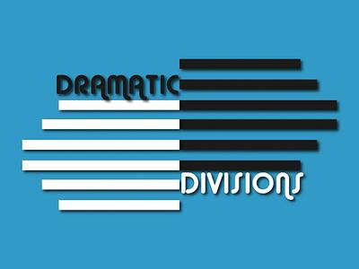 DRAMATIC  DIVISIONS vector minimal blue elegant logo design branding design illustration branding logo graphic design design typography