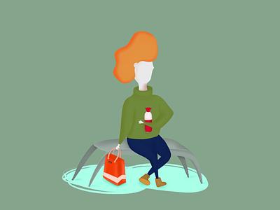 1.2 The Dutch life procreate illustration dopper girl
