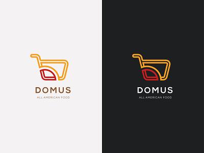 Domuus logo consept american food colorfull minimalist lineart branding logo