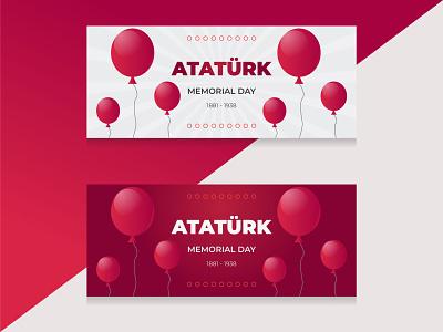 Ataturk Memorial day banner design branding instagram banner graphic design isntagram banner facebook banner banner design banner ad banner
