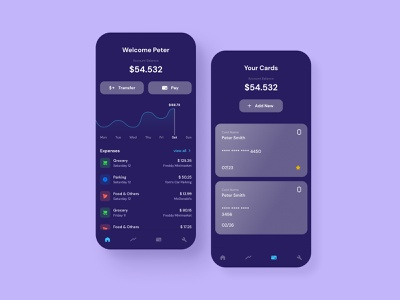Payments App cards card payments pay banking mobile design ux ui  ux ui design uidesign ui figma design