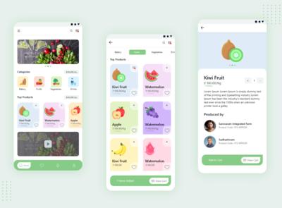 Grocery App adobe xd fruits vegetables grocery app app illustration ui