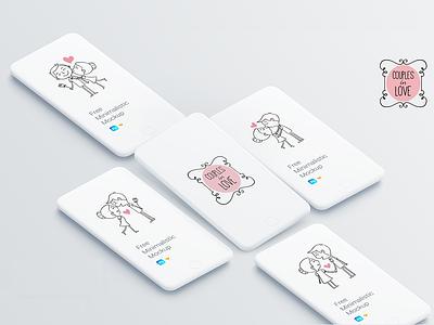 Love Couples App Mockup uidesign love day app ux illustration vector ui design
