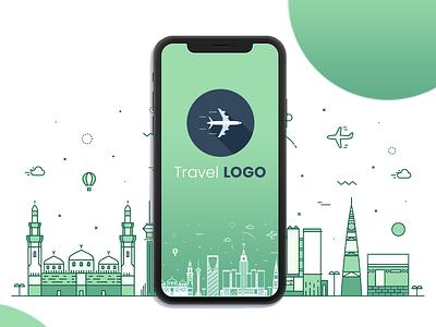 Skyline Saudi Arabia icon ux design app illustration vector ui