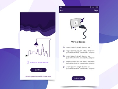 Electronic App illustration app ux electronic electric design
