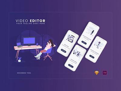 Video Editor video app mobile app development ux ui app illustration design
