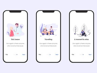 Skipping Screens travel app app illustration ui