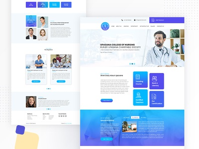 Nursing College education medical webdesign design ui