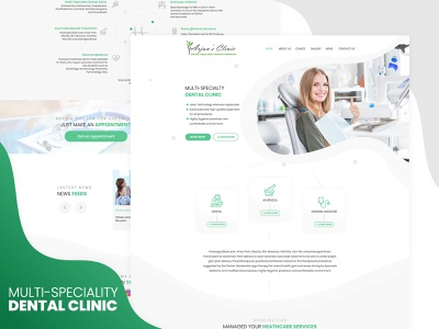 Dental Clinic dental website design dental clinic dental care hospital