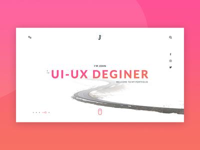 Portfolio landing design minimal portfolio ui  ux design