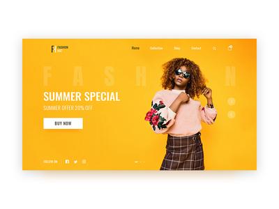 Fashion Hat Landing page shopping website shopping user inteface ui  ux design landing fashion design landing page website