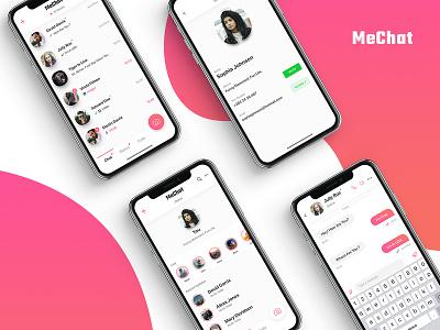 Mechat Chatting App ios app user experience user interface ui  ux design design app ui-ux chat mechat status comunication minimal chat app