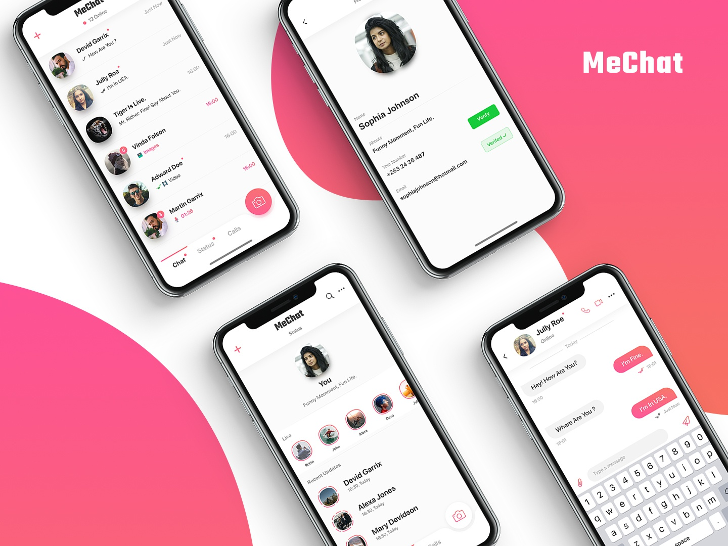 Mechat Chatting App by Olivia Graphics on Dribbble