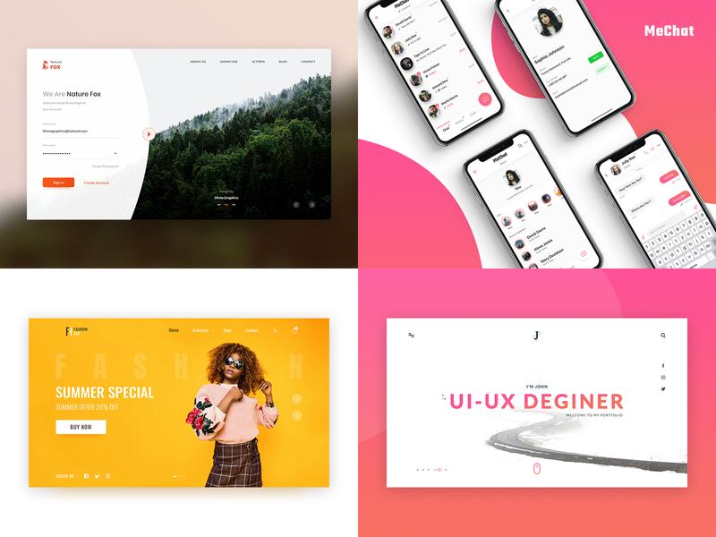 Olivia Top 4 Design-2018 dasboard uidesign user experience design user experience user interface login screen hero header landing page mobile app design webdesign