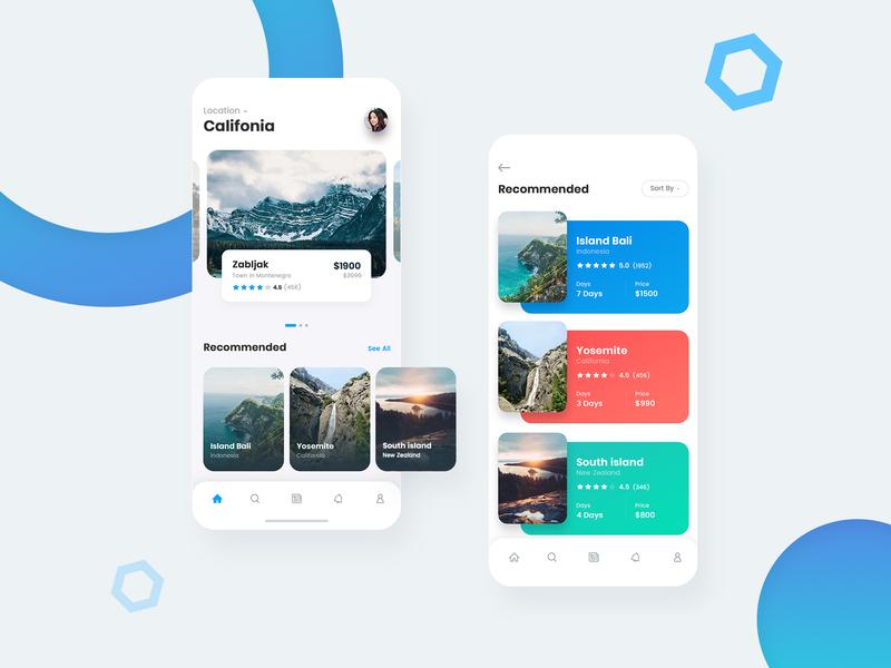 Travel App Design ui user interface mordern mobile app ui tourist app minimal design ui  ux design ui design mobile app design app design travel app