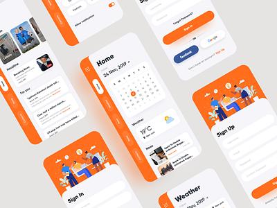 One Check - Daily News App ios app ios app design news app app design login screen ui uidesign application design user interface minimal design ui  ux design mobile ui ux design ui design