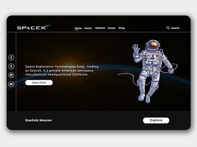 SpaceX Website Redesign   Rish Designs figma webdesign website rish rish designs space x space ui design ux uxui ui dark ui