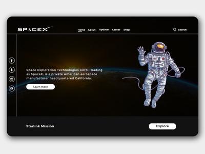 SpaceX Website Redesign | Rish Designs figma webdesign website rish rish designs space x space ui design ux uxui ui dark ui