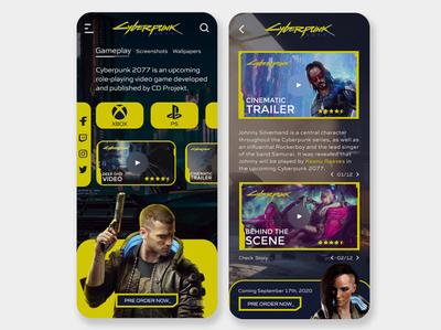 Cyberpunk 2077 UI Concept | Rish Designs keanu reeves web uiux uxui ui design cyberpunk 2077 cyberpunk design ux ui dark ui rish rish designs