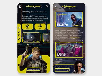 Cyberpunk 2077 UI Concept   Rish Designs keanu reeves web uiux uxui ui design cyberpunk 2077 cyberpunk design ux ui dark ui rish rish designs