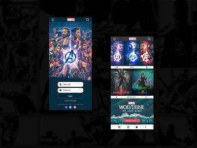Marvel App Ui   Rish Designs ux ui marvel app disney rish rish designs avengers end game avengers ui marvel ui marvel