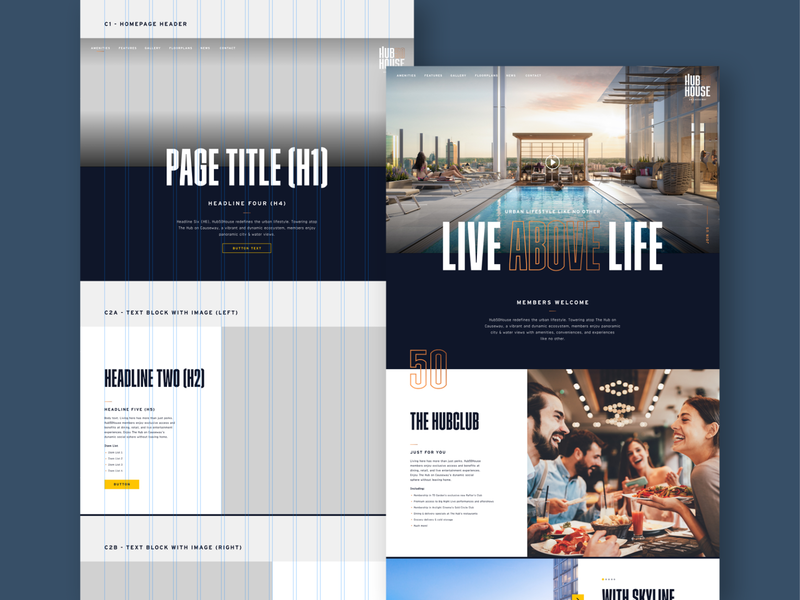 Hub50House Web Design Components website webdesign ux ui real estate pilot studio pilot hub50house branding