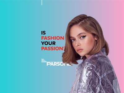 Ad for Fashion course from Parsons, NY advertisement the new school branding fashion parsons typography