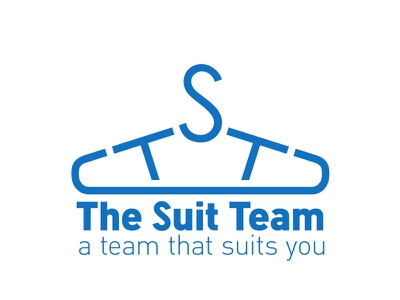 The Suit Team Logo the suit team logo design
