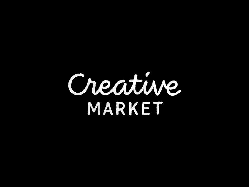 Logotype Redraw #4 — Creative Market typography type lettering script wordmark logotype logo