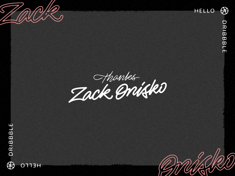 Hello Dribbble! hello lettering typography debut