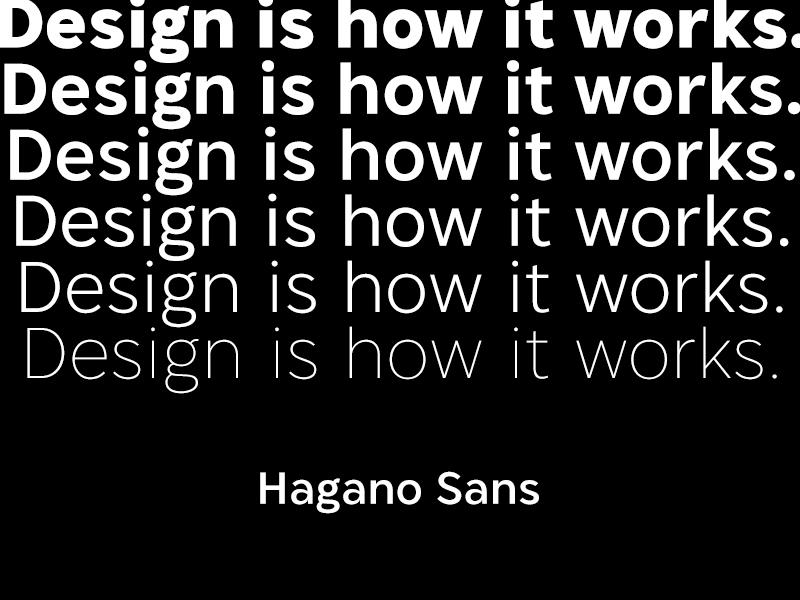 Hagano Sans Preview 1 typeface font sans serif