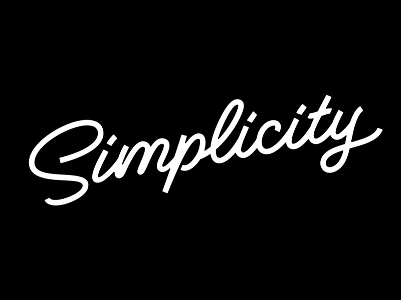 Simplicity script quotes lettering typography