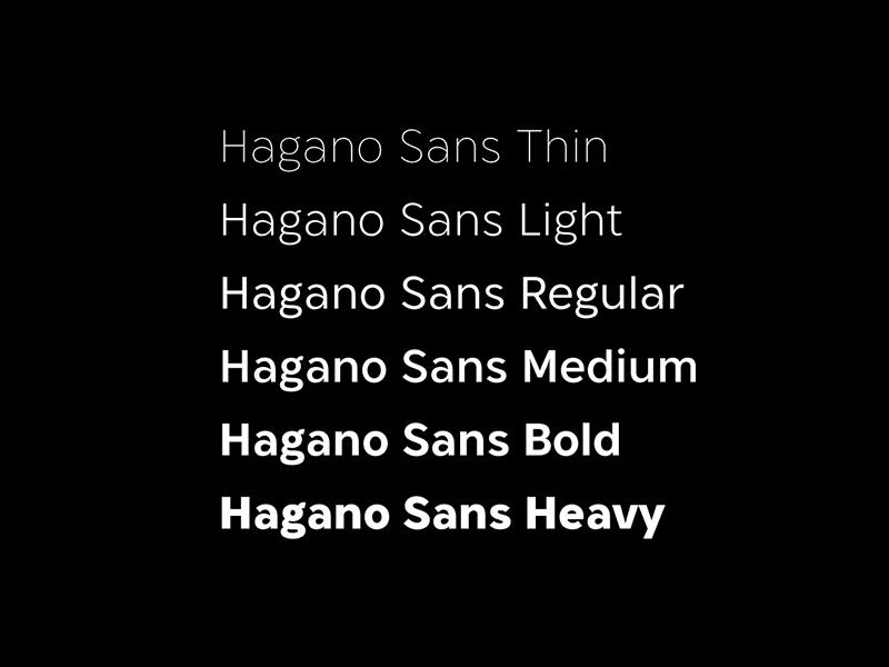 Hagano Sans Preview 2 typeface font sans serif