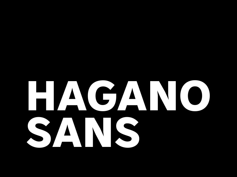 Hagano Sans Preview 3 font typeface