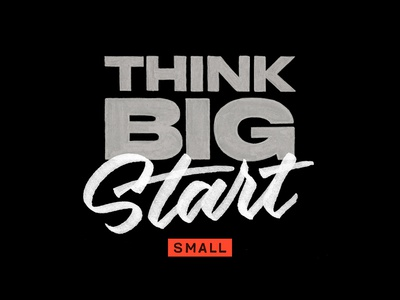 Think Big Start Small