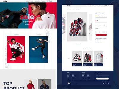 FILA. Redesign ux  ui ux design red social filaredesign redesign sale sneakers shop fila figmadesign ui figma 404 2021 webdesign figma design design