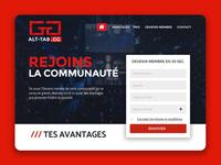 Esport website landing page