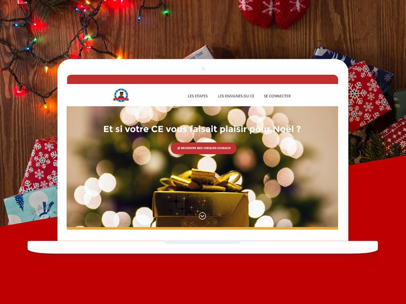 A landing page for Christmas challenge story ux prototyping wireframing sketching adobe xd santa claus one page landing page christmas website