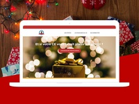 A landing page for Christmas