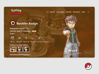 Pokemon Stadium - Gym Leader page - Brock